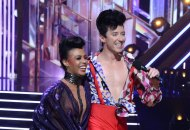 Johnny Weir and Britt Stewart on Dancing with the Stars