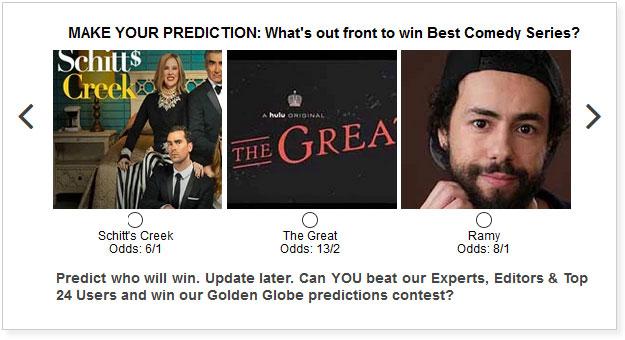 Golden Globe Best TV Comedy Series widget
