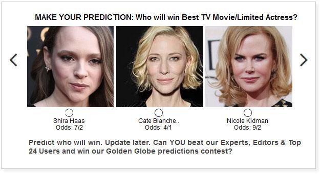 Golden Globes TV Movie Limited Actress widget