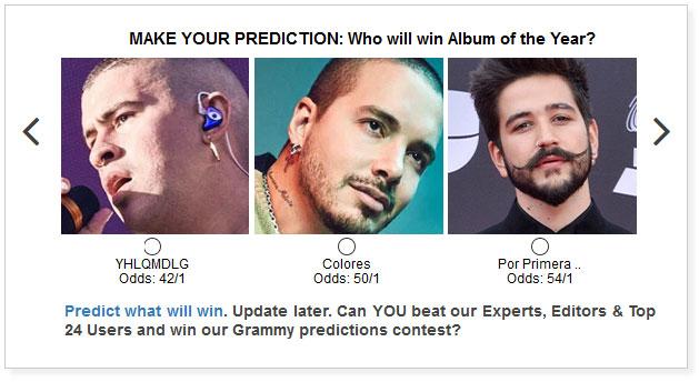 Latin Grammy Album of the Year widget