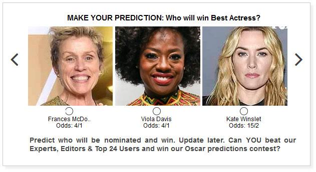Oscars Best Actress widget