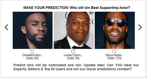 Oscars Best Supporting Actor widget
