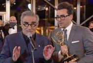 Schitt's Creek Emmy winners Dan Levy and Eugene Levy