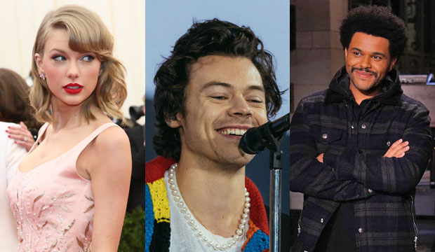 Taylor Swift, Harry Styles and The Weeknd