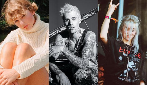 Taylor Swift, Justin Bieber and Billie Eilish
