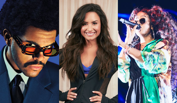 The Weeknd, Demi Lovato and HER