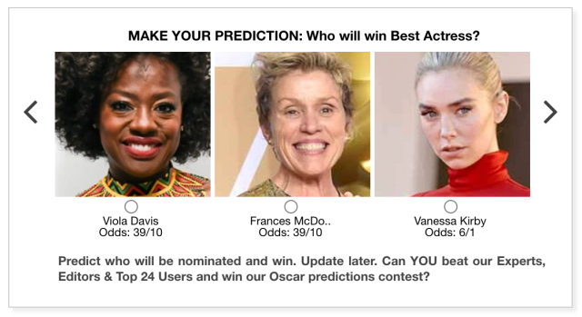Gold Derby 2021 Best Actress Oscar predictions
