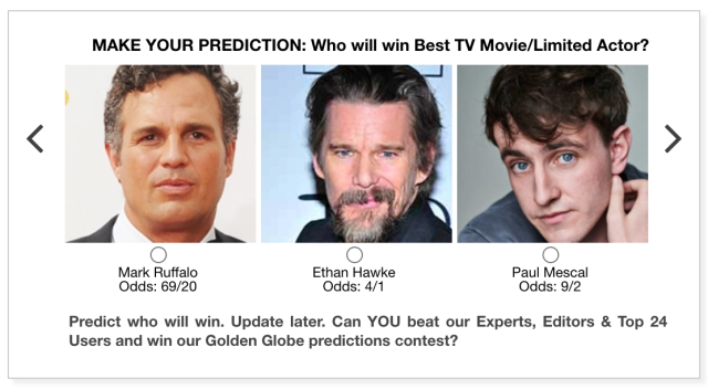 Golden Globes 2021 Best TV Movie/Limited Series Actor predictions