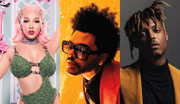 Doja Cat, The Weeknd and Juice WRLD