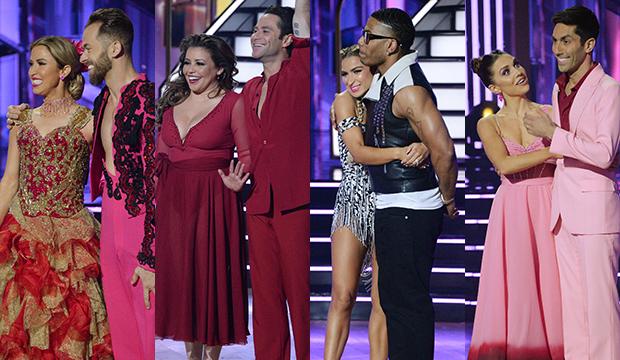 Kaitlyn Bristowe and Artem Chigvintsev; Justina Machado and Sasha Farber; Daniella Karagach and Nelly; Jenna Johnson and Nev Schulman, Dancing with the Stars