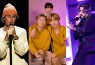 Justin Bieber, BTS and Bad Bunny