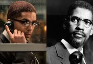 Kingsley Ben Adir and Denzel Washington as Malcolm X