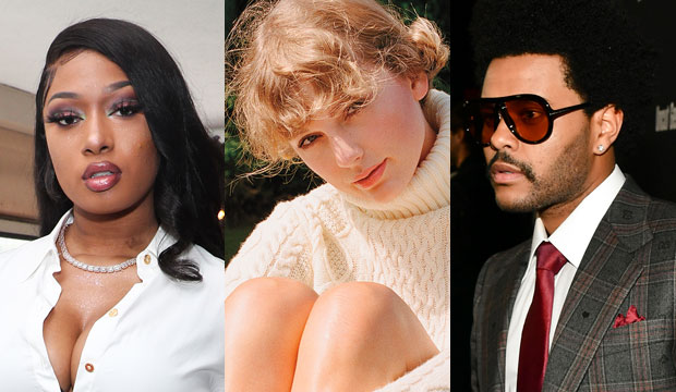 Megan Thee Stallion, Taylor Swift and The Weeknd