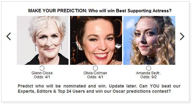 Oscars Best Supporting Actress widget