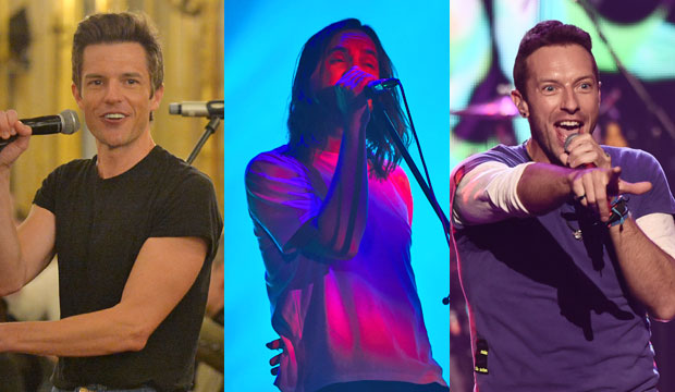 The Killers, Tame Impala and Coldplay