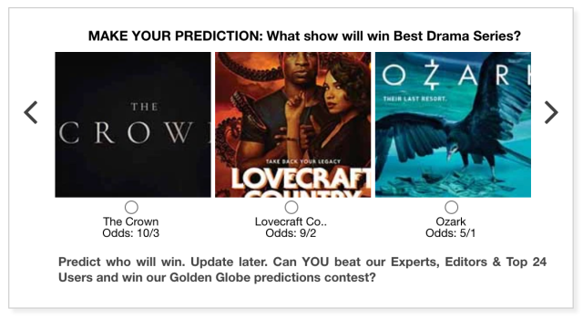 Golden Globes 2021 Best TV Drama Series predictions