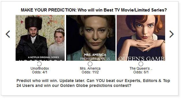Golden Globes Best TV Movie Limited Series widget