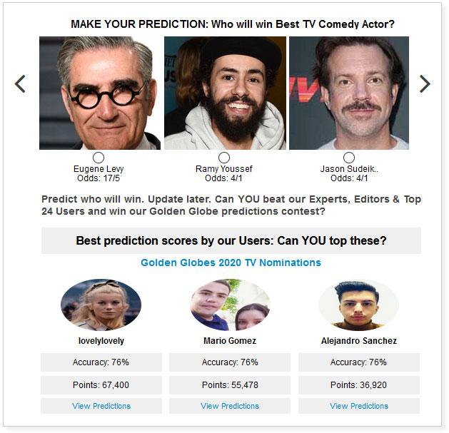 Golden Globes Best TV Comedy Actor widget