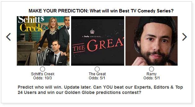 Golden Globes best tv comedy series widget