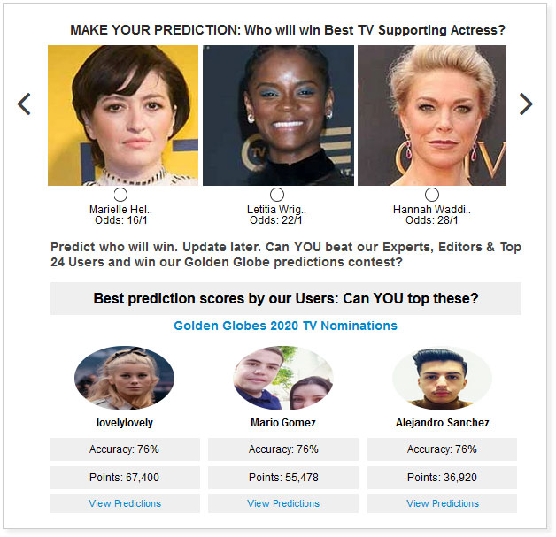 Golden globes betting dog racing betting games for golf