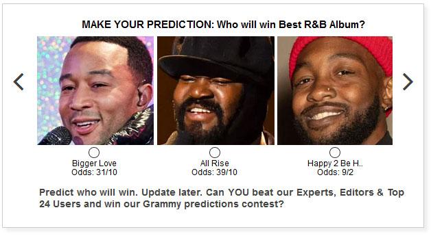 Grammys Best RB Album widget