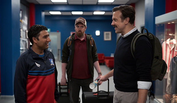 Nick Mohammed, Brendan Hunt and Jason Sudeikis, Ted Lasso
