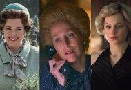 Olivia Colman, Gillian Anderson and Emma Corrin in The Crown season 4