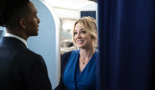Griffin Matthews and Kaley Cuoco, The Flight Attendant