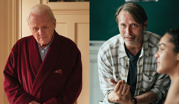 Anthony Hopkins in The Father, Mads Mikkelsen in Another Round