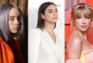 Billie Eilish, Dua Lipa and Taylor Swift