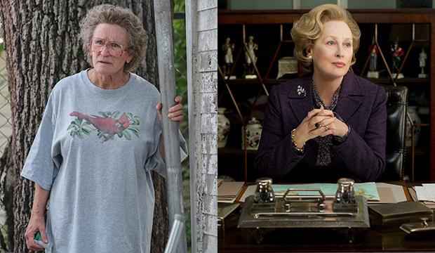 Glenn Close, Hillbilly Elegy; Meryl Streep, The Iron Lady