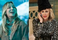 Kaley Cuoco in The Flight Attendant and Catherine O'Hara in Schitt's Creek