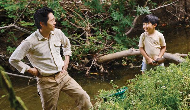 Steven Yeun and Alan Kim in Minari