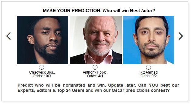 oscars best actor predictions widget