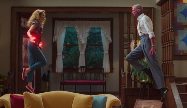 Elizabeth Olsen and Paul Bettany, WandaVision