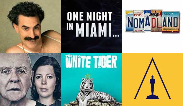 borat subsequent moviefilm one night in miami nomadland the father white tiger