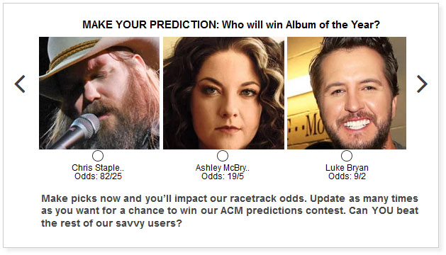 acm awards album of the year predictions widget