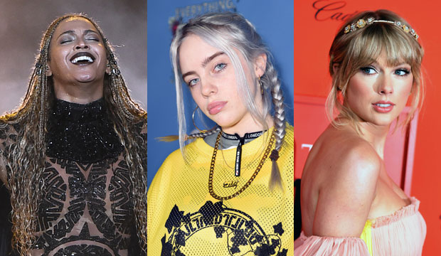 Beyonce, Billie Eilish and Taylor Swift