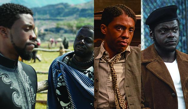 Chadwick Boseman and Daniel Kaluuya, Black Panther; Ma Rainey's Black Bottom; Judas and the Black Messiah