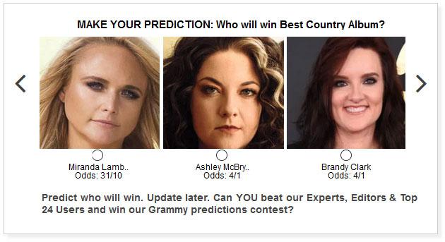 grammys best country album predictions widget