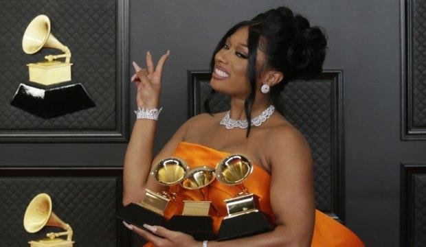 Megan Thee Stallion at Grammys 2021