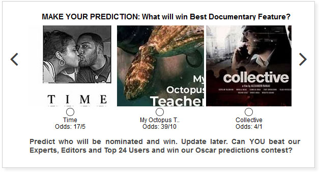 oscars best documentary feature predictions widget