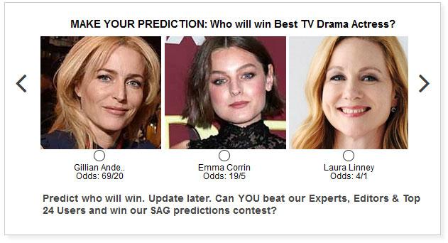 sag awards best tv drama actress predictions widget