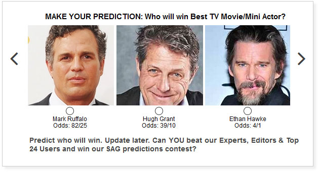 sag awards best tv movie limited series actor predictions widget