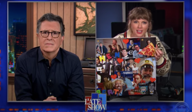 Stephen Colbert and Taylor Swift