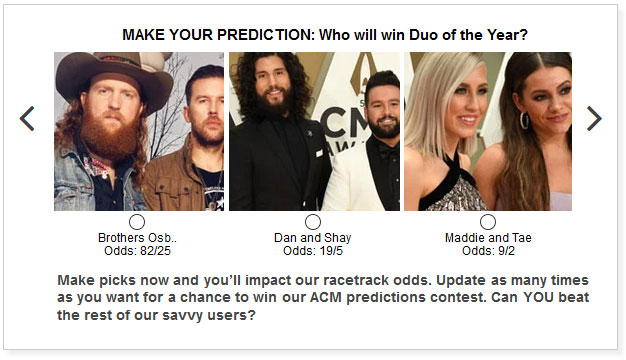acm awards duo of the year predictions widget