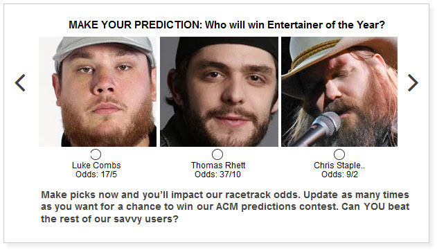 acm entertainer of the year predictions widget