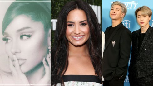 Ariana Grande, Demi Lovato and BTS