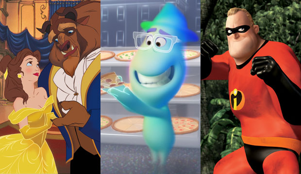 Beauty and the Beast, Soul and The Incredibles