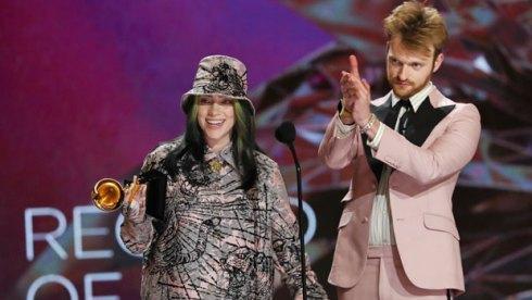 Billie Eilish and Finneas at Grammys 2021